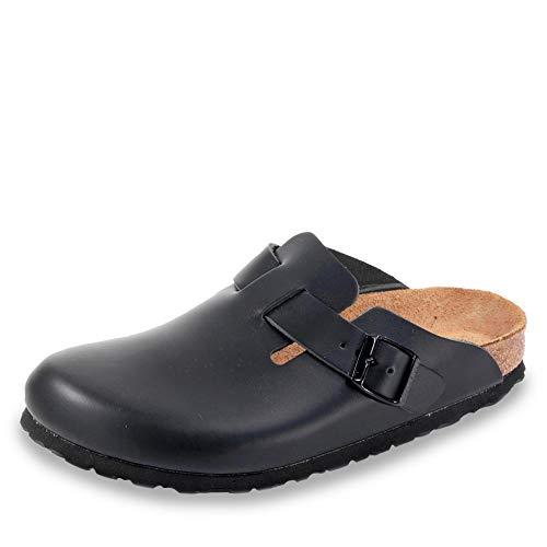 Birkenstock Schuhe Boston Naturleder Normal Black (060191) 40 Schwarz