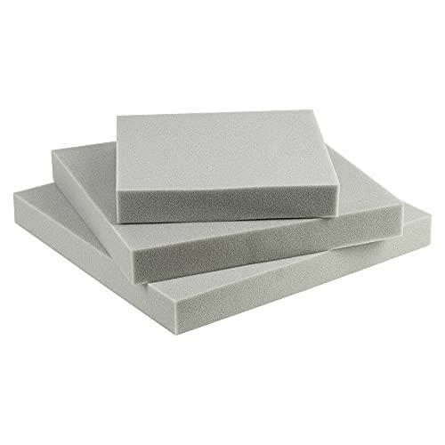SEEBAUER Living® Schaumstoffplatte MEDIUM | Verschiedene Größen | RG35/40 | Auflage für Möbel und Palettenmöbel | Schaumkissen aus PU-Schaum (40 x 40 x 5 cm)