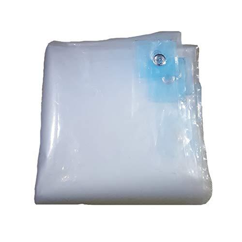 Dongyd Plastique Bâche épais Transparent Double Face étanche Isolation Anti-Pluie antipoussière PE Balcons Tarp (Couleur : Clair, Taille : 4×8m)
