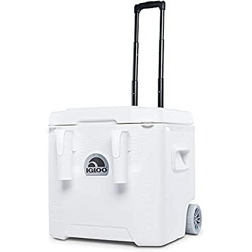 Igloo Marine Quantum Kühlbox auf Rädern, 49 Liter, Weiß