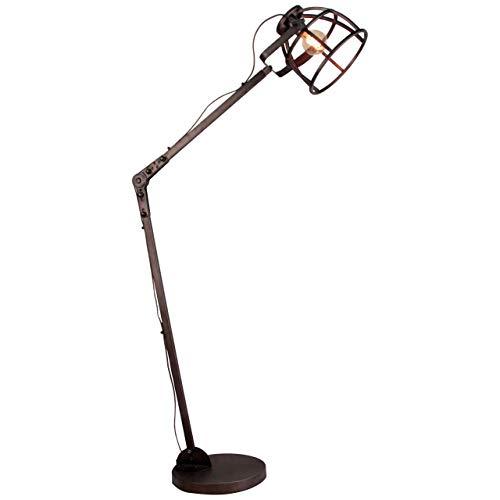 Brilliant industriële vloerlamp Matrix