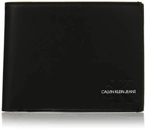 Calvin Klein Herren Monogram Billfold W Coin Geldbörse, Schwarz (Black), 3x9.5x13 cm