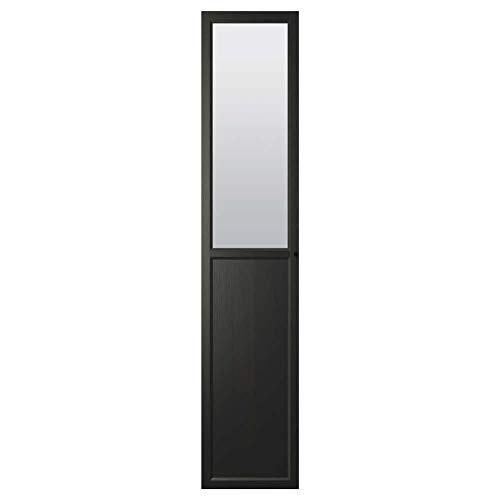 OXBERG Panel/Puerta de cristal, color negro