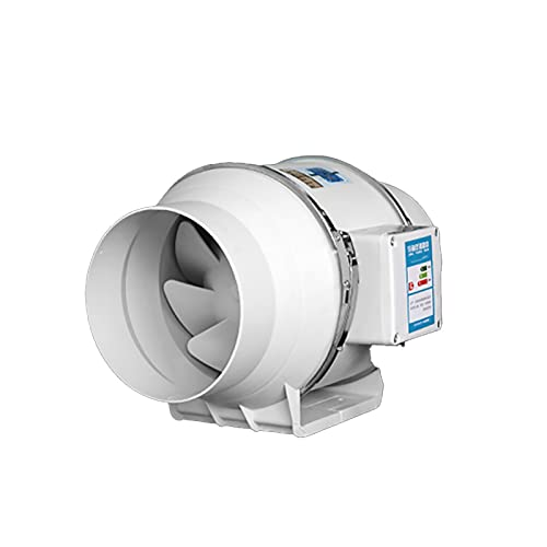 KaiLangDe 6〞8〞10〞12〞 Extractor Aire Silencioso con Controlador De Velocidad Variable Motor Ventilador De Conducto De Ventilación En Línea para Baño Hidropónicos Fan Pared Ventilación Baño Silencioso