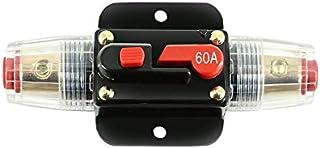 20A 30A 40A 50A 60A 80A 100A 12V Amplificador de áudio de caminhão para carro Disjuntor porta fusível Amplificador estéreo...