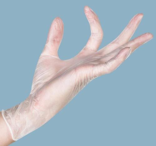 Transparente medizinische Einweg-PVC-Handschuhe, wasserdichter Schutz - S_100 Stück/Karton
