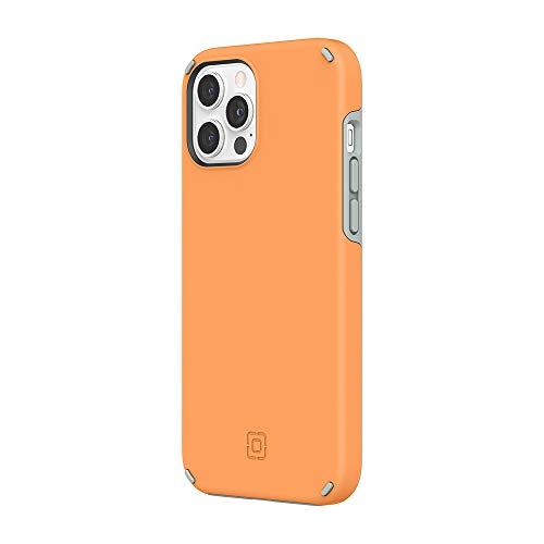 Incipio Funda Duo compatible con iPhone 12 Pro Max - Clementine Naranja/Gris