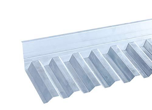 Wandanschluss für PVC-Wellplatten mit Profil 70/18 - Trapez