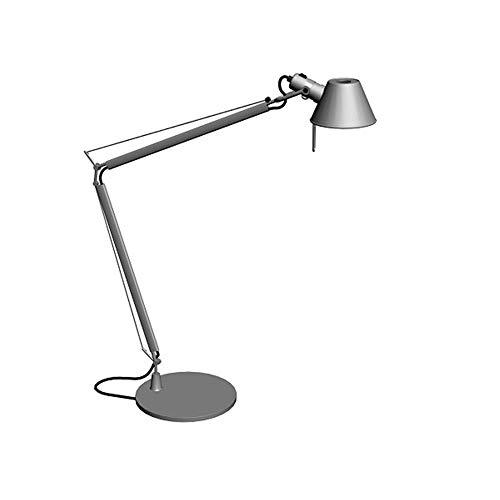 LogIme Protección de los ojos lámpara de mesa plegable negro nórdico brazo largo de Estudiantes Anti-azul claro Sin parpadeo lámpara de mesa italiana Oficina diseñador lámpara de escritorio dormitorio