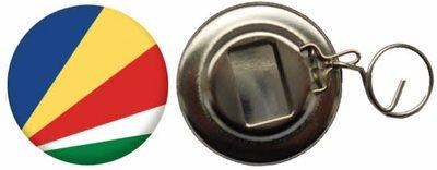 Flaschenöffner Flagge Fahne Seychellen - 58mm