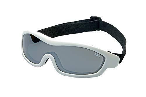RAVS lichte skibril veiligheidsbril snowboardbril zilver gespiegeld glas compatibel met helm