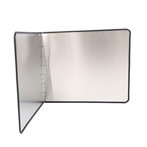 "uxcell Stainless Steel Kitchen Wall Oil Splash Guard Block Cover Anti Splatter Shield, 17.7"" x 15""(H) /45 x 38cm(H)"