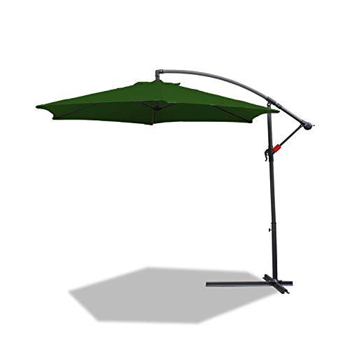 BMOT 3m sombrilla Parasol de Aluminio para terraza jardín protección Solar UV