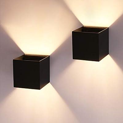 Amazon - Save 50%: Wall Sconce Lighting 2-Pack, SUMKUMY LED Wall Lamp 3000K Warm White…