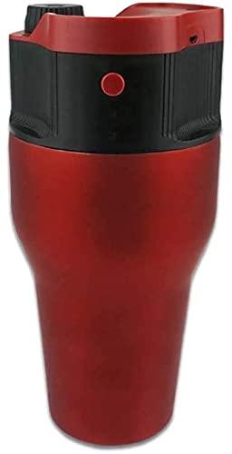 XJYXH Máquina de café Extracción de café Máquina de café de circulación Potencia móvil Ajustable Mini Cápsula automática Portátil Portátil Al aire libre Cafetera Aislamiento Una máquina multiusos (roj