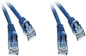 2 Cheap sale Pack Mail order Cat5e Ethernet Patch Cable Molded B Boot Feet 4 Snagless