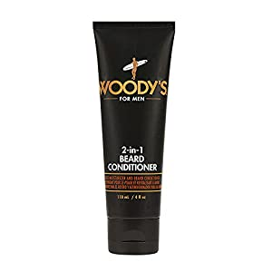 Woody's 2-in-1 Beard Conditioner, Softens and Conditions Dry, Coarse and Flakey Facial Hair, with Vitamin E, Panthenol… 1