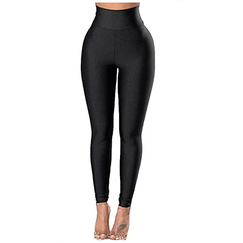 BIBOKAOKE Pantalones de deporte para mujer, de un solo color, cintura alta, de secado rápido, ajustados, para deporte, fitness, entrenamiento, fitness