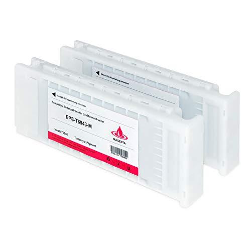 Tintenpatrone kompatibel für Epson SureColor T6943 C13T694300 SC-T 3000 3200 5000 5200 7200 3270 5270 7270 D-PS POS Series W/O Stand- Magenta je 700ml