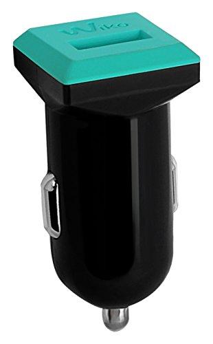 WIKO WKPWDC1U1AS1 Presa USB Auto per Smartphone, Azzurro/Nero