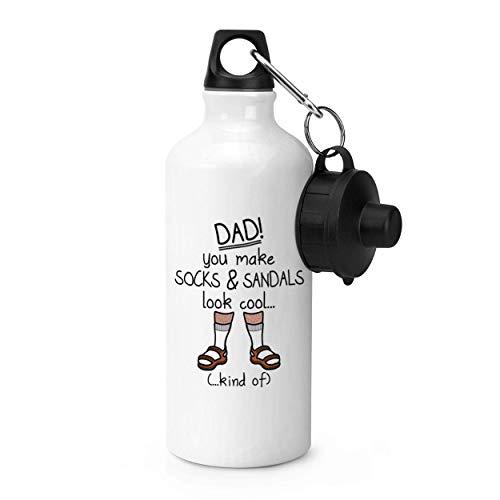 tian huan88 600ml sport waterfles, vader je maakt sokken en sandalen kijken Cool Gym 20 oz aluminium Gym sport waterfles
