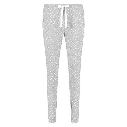 HUNKEMÖLLER Pyjamahose Jersey Grau L