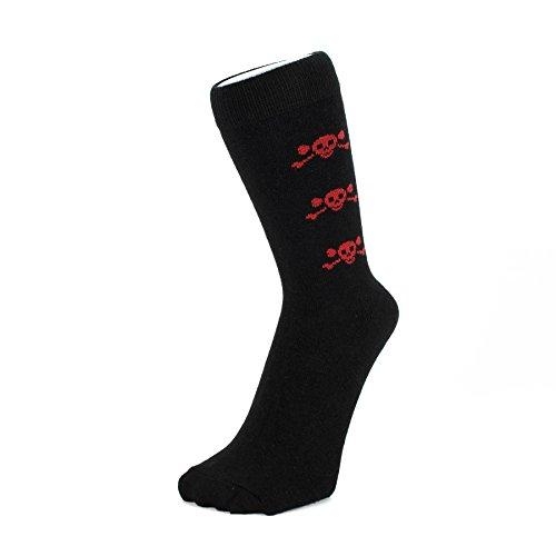 Hat To Socks Schwarz mit kleiner roter Schädel Knöchel Socken (Größe: 4-6)