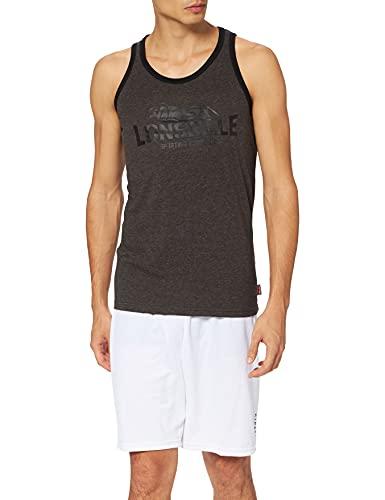 Lonsdale London Camiseta de Tirantes para Hombre Cureton Slim Fit, Hombre, Camiseta sin Mangas de Corte Ajustado, 113921, Marl Ash, Small