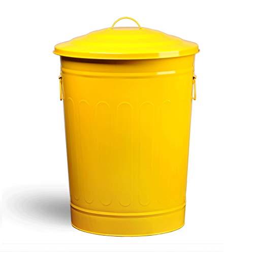 Outdoor Prullenbak Met Deksel Metaal Bakken Verf Binnen Keuken, Tuin Vuilnis Weggooien Binnen Vat Rond Recycling Doos
