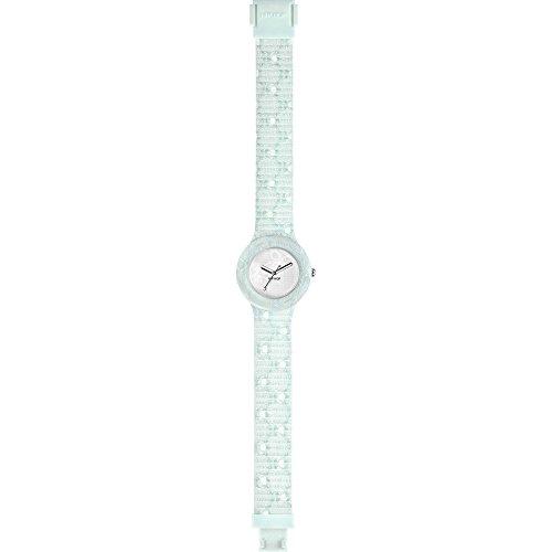 Orologio HIP HOP donna SANGALLO quadrante bianco e cinturino in silicone, tessuto azzurro, movimento SOLO TEMPO - 3H QUARZO