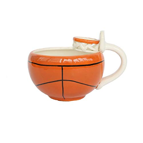 Doinbtoy Taza Creativa de Dibujos Animados Taza de café de Leche de cerámica Taza de Desayuno Taza de Baloncesto de 401-500 ml
