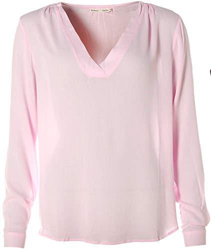 Barbara Becker Damen Langarm Shirt V-Ausschnitt Manschette Magnolia 44