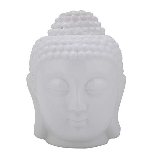 Raguso Cabeza de Buda de cerámica Blanca en Forma de Quemador de...