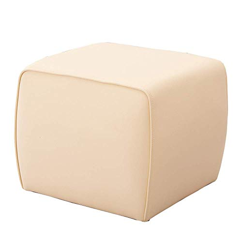 JIEER-C stoelen, gevoerd, ottomane, gemaakt van milieuvriendelijk materiaal, gemakkelijk te reinigen, comfortabel, zachte wisseling van bank, schoen, kogellagers 150 kg, 50 x 50 x 45 cm (kleur: antiek) Gris
