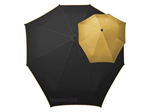 Senz° Regenschirme Manuelle Klappschirme - Gold|Schwarz