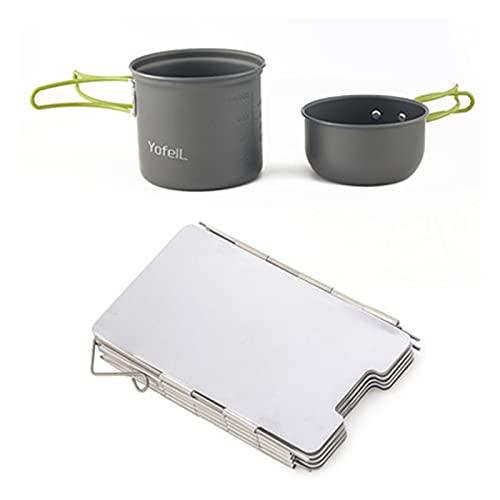 YINZHI Camping Al Aire Libre Cocina de Gas Estufa Portátil Calentador de Gas con Equipo de Encendido Piezo Camping Estufa Estufa de Parabrisas Accesorios de Senderismo (Color : Package 3)