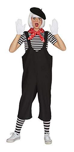 Andrea Moden 726-36/38 - Kostüm Pantomime, Hose, Größe 36/38, Latzhose, Clown, Künstler, Motto Party, Karneval