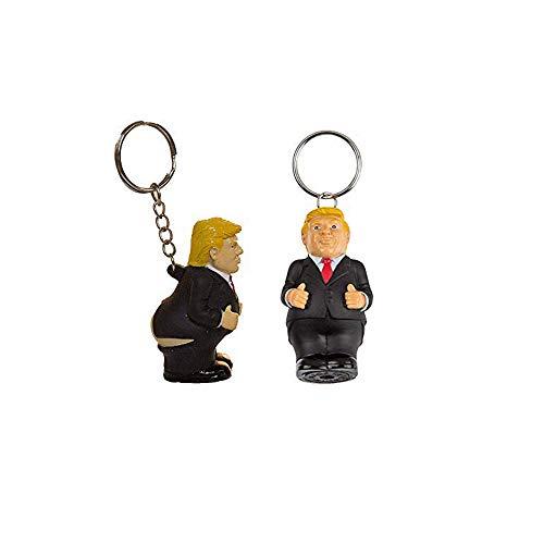 Uteruik Schlüsselanhänger für Damen und Herren, Trump, lustig, personalisierbar, Schlüsselanhänger für Geldbörse, Geschenke für Freund, Freundin, 2 Stück