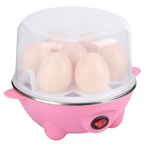 AMONIDA Romantisches Geschenk Multifunktionskochmaschine Eierkocher, Eierdampfer, rosa hochtem aturbeständige Dampfeier, Eierpudding, Reis, Mais zum Frühstück Küche zu(Single Layer pink)