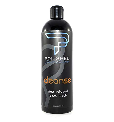 Polished Car Care Cleanse | Ceramic (Si02) Infused Foam Car Wash Soap and Shampoo | Apply Ceramic Coating While Washing Cars, Trucks, Motorcycles, Rv and Boats (16 Oz)…