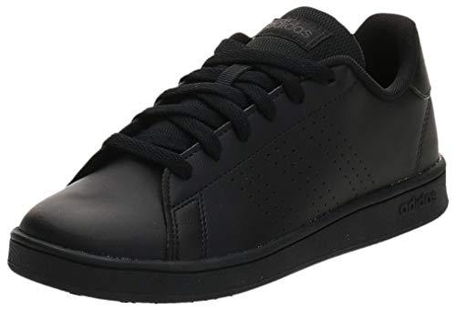 adidas Advantage K, Scarpe da Tennis, Core Black/Core Black/Grey Six, 36 2/3 EU