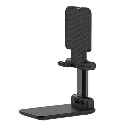 Monland Soporte para TeléFono Celular Ajustable, Soporte de Tablet Plegable Soporte de TeléFono MóVil para Galaxy X Negro