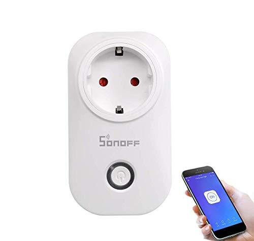 Sonoff S20 Prise Connectée WiFi Intelligente, Fonctionne avec Amazon Alexa & Google Home Assistant, Prise en charge IFTTT, Prise Intelligente avec Minuterie Prise de Courant Prise Télécommandée Vos Appareils de Partout