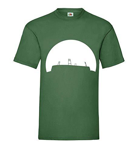 Shirtzshop 84.de - Camiseta para hombre, diseño de Estadio de fútbol con puesta de sol verde botella M