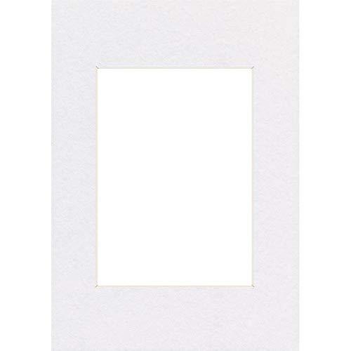 Hama Passe-partout (premium, dimensions : Extérieur : 40 cm x 50 cm / Intérieur : 28 cm x 35 cm) Blanc Arctique