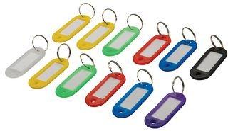 Silverline 844160 - Llaveros colores etiqueta identificativa