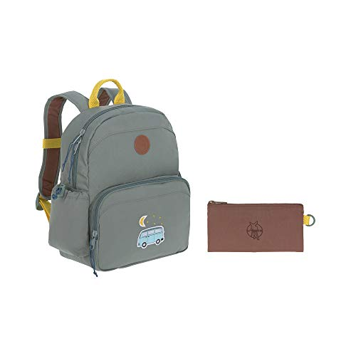 LÄSSIG Kinderrucksack mit Brustgurt Kindergartentasche Kindergartenrucksack / Medium Backpack, Adventure Bus, 30 cm, 7 L