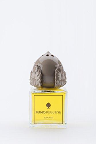 Pumo Pugliese - Diffusore con Bastoncini di Legno Profuma Ambiente - Oggetto in Ceramica Colorata Bianco - Made in Italy - Soprammobile per Casa - Idea Regalo - Fragranza Grecale 100 ml