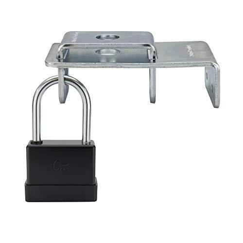 RecPro RV LP Tank Lock and Pad Lock | RV Security | Camper LP Tank Lock