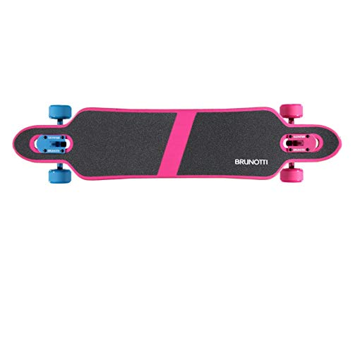 Brunotti Longboard Bob 39 Zoll Birkenholz Komplett Dropthrough Freestyle lackiert ABEC 7 bis 99kg, 161151401, Farbe lila